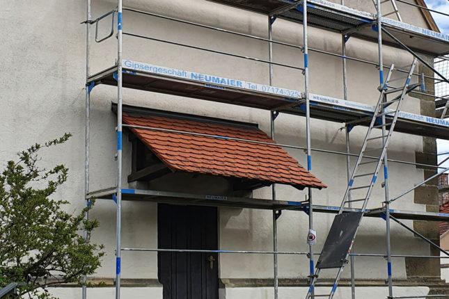 Fassadengerüst für Flaschnerarbeiten