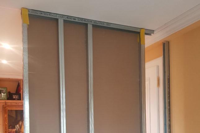 Raumteiler in Trockenbauweise